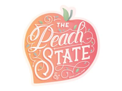 Creative South 18' - Peach State Sticker