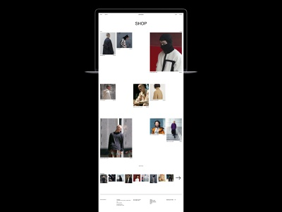 8DIVISION fashion ecommerce shop store minimalism typography website interface dribbble behance ux ui web design logo branding web