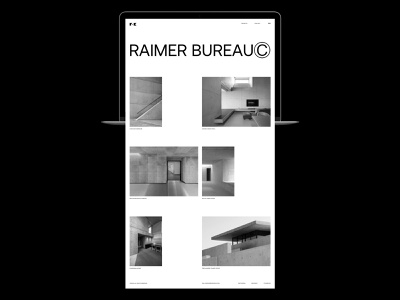 Raimer BureauⒸ studio minimalism brutalism interior architecture typography website interface dribbble behance ux ui web design logo branding web
