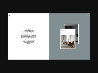 Hi atelier studio minimalism furniture interior architecture typography website interface dribbble behance ux ui web design logo branding web
