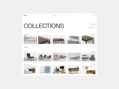 Pastoe studio minimalism furniture interior architecture typography website interface dribbble behance ux ui web design logo branding web