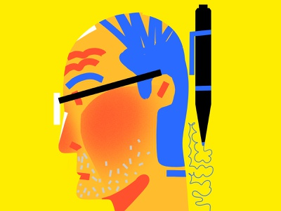 MAN/PEN>SCRIBBLE playful play studio poster motion graphics logo illustration design branding brand agency