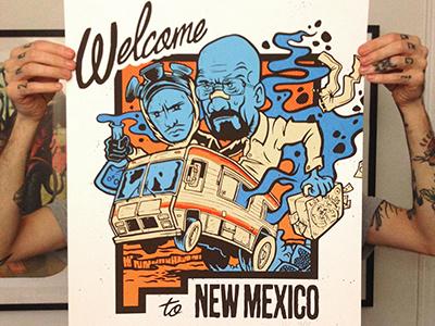 """Welcome to NEW MEXICO"" - BREAKING BAD breakingbad screenprint poster gigposter heisenberg"