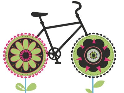 Bike Flowers Part 4 bicycle retro flowers