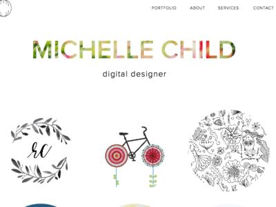 New Portfolio Time minimal masks presentation branding portfolio