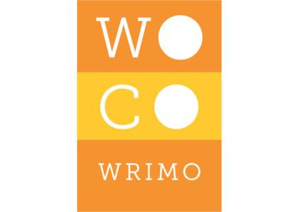WoCo WriMo print design slab-serif sticker