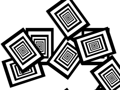 Black Holes  cards flat design black and white minimal