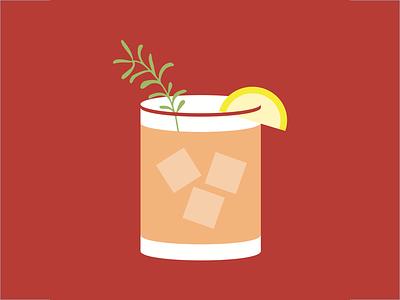 Cocktail bezar madmen print lemon cocktail lavender