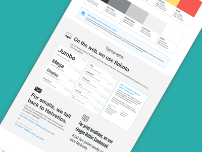 Brand Style Guide marketing design front end typography style guide