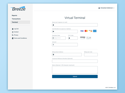 Point of Sale Terminal ux foundation terminal credit card ui form point of sale