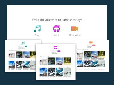 iTunes Sampler craft wireframe music design minimal