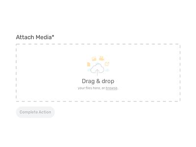 Drag & Drop Uploader rubik attach attachment media upload drop drag