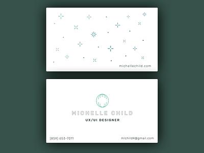 Business Cards web design ux ui portfolio personal minimal business card