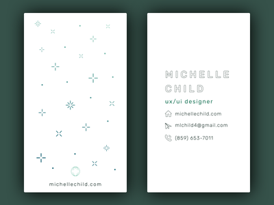 Business Card business card minimal ui ux web design personal portfolio