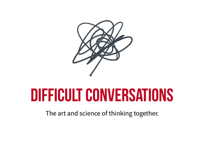 Difficult Conversations minimal non-profit presentation