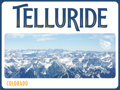Telluride - Weekly Warm-up postcard lettering typography graphic design