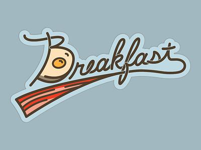 Breakfast sticker mule graphic design illustration lettering