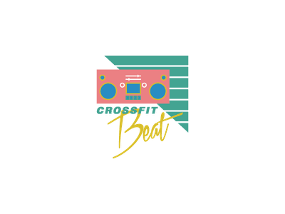 '90s Crossfit t-shirt design digital illustration graphic design apparel boombox 90s