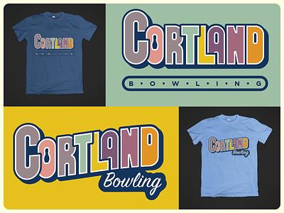 Cortland Bowling t-shirt logo vintage retro bowling