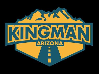 Kingman Sticker digital illustration vector typography illustration weekly warm-up route 66 sticker hometown