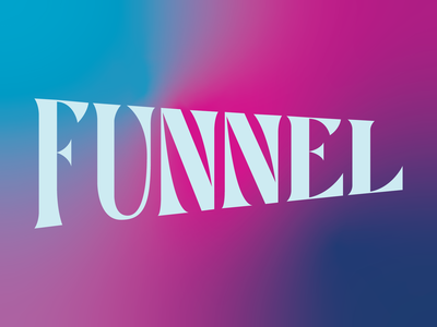 Funnel Lettering typography funnel lettering type room 205