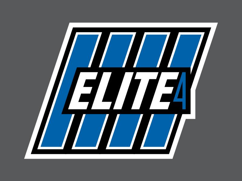 Elite 4 Fantasy Football Logo lines flat white black detroit lions blue fantasy football football pokemon elite four elite 4