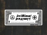 One Dollar - Original Limited Sticker