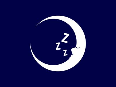 Sleeping Moon vector white flat one color circle minimal off snooze sleeping bag sleeping closed eye lips crescent crescent moon half moon full moon nose zzz moon