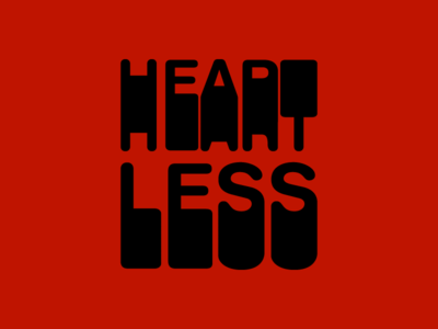 Heartless Retro 808 amazing kanye west less red black vector flat groovy retro old school heart heartless