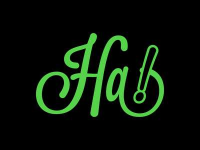 Ha! type text typography vector black green flat lmfao lol haha lavanderia harley quinn batman joker joke funny ha