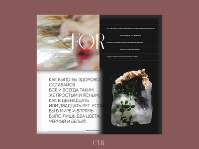 "Landing page ""CLR. | доставка цвета"" landing page web typography color ux ui design"