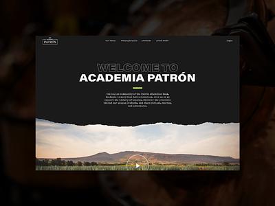 Academia Patrón Website patrón tequila mobile desktop ux web design website
