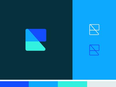 Logo mark news geometric simple shapes symbol mark logo