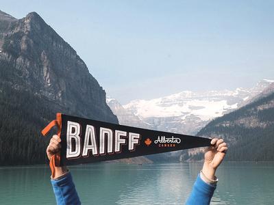 Banff Pennant typography bold canada banff oxford pennant lettering