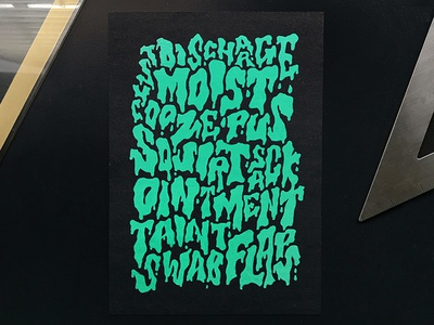 Down with the sickness slime illustration halloween typography handlettering lettering