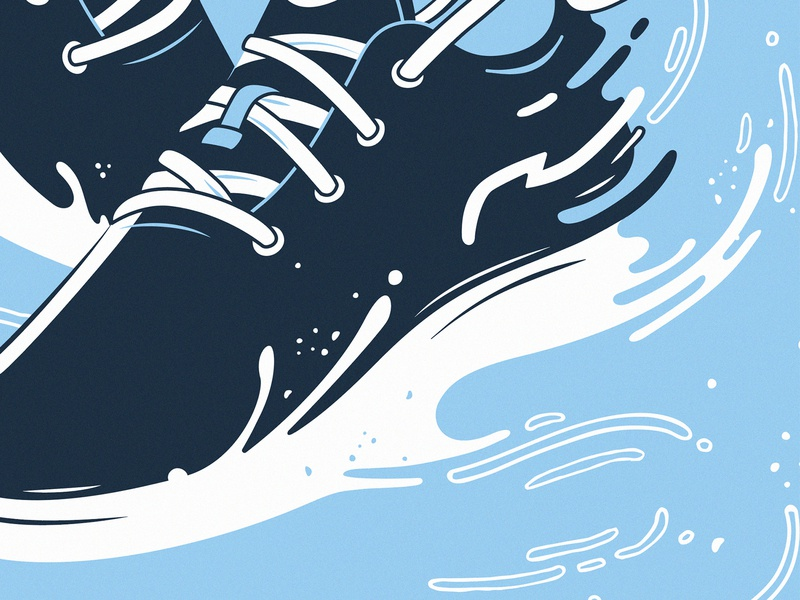 Runners design wind shoes clean vector illustration