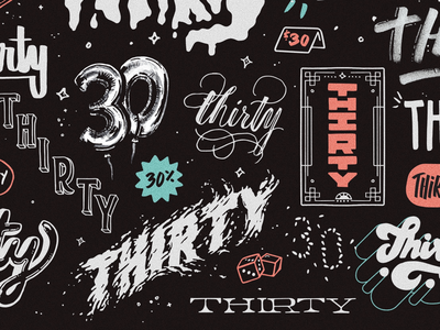 30 for 30 thirty 30 hand lettering illustration birthday lettering