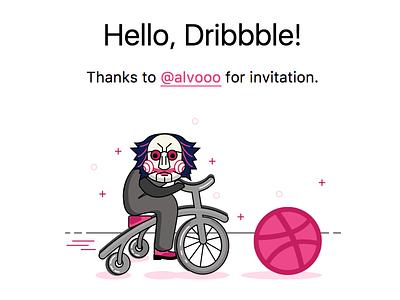 Hello Dribbble! minimal debut newsletter email