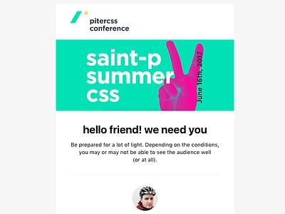 PiterCSS Email Newsletter css html minimal newsletter email