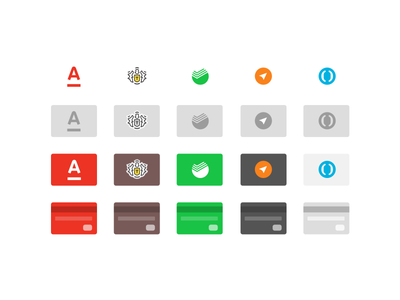 Russian Credit Cards Icons sketch payment minimal mastercard icon freebie free flat download credit card credit