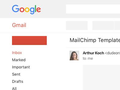 Gmail Responsive Wireframe email sketch wireframe gmail