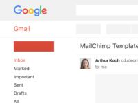 Gmail Responsive Wireframe