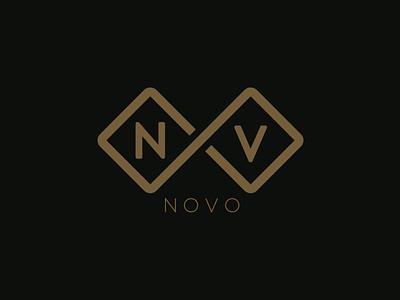 Novo v n boucle infinity infini travel nove logotype logo identity branding