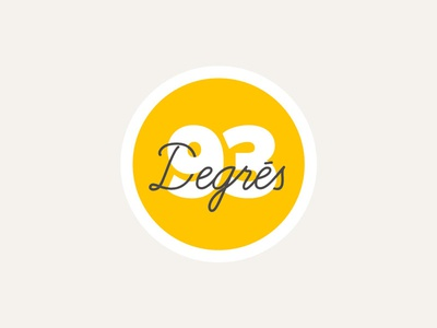 93 Degrés badge personnal branding logo