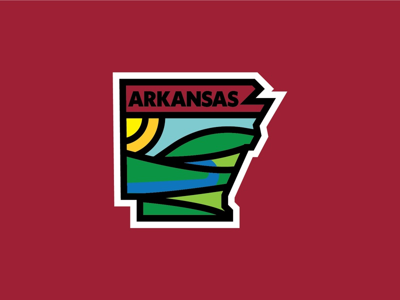 Arkansas state tshirt logo outdoor thicklines ozarks ark