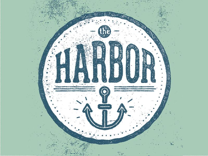 The Harbor badge icon anchor brand identity logo