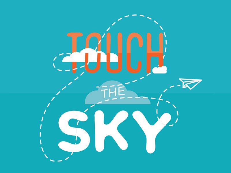 Touch the Sky - Revision_01 children kids elementary worship christian typography jr. high young youth sky design logo