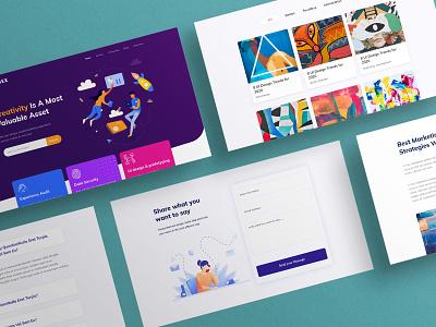 UI design inspiration colorful minimal clean landingpage illustration vector ui design inspiration agency branding