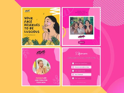 Social Media post for 'My Lush Face' post twitter instagram facebook meia smm socialmedia design colorful design inspiration
