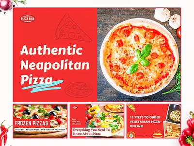 Blog image Pizza Bien image blog blogimage design inspiration agency branding design colorful
